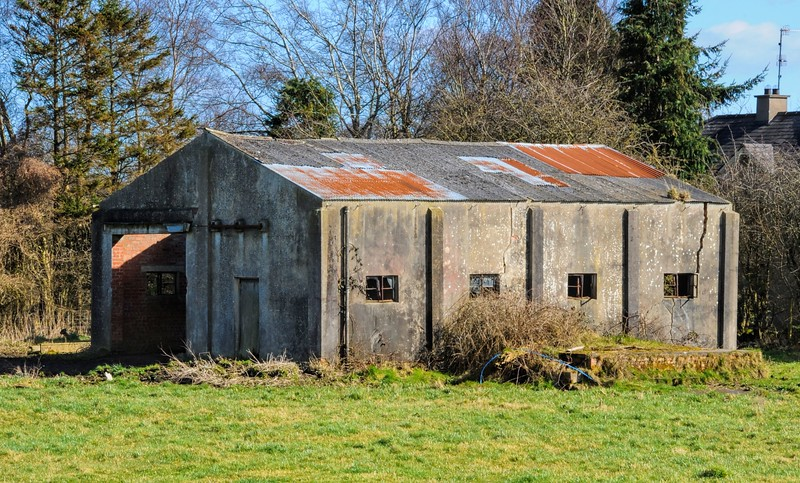 Derelict building,<br /> Toome Airfield.