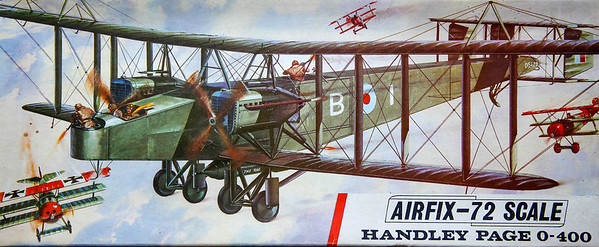WW1 Handley Page 0-400 heavy bomber.