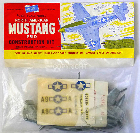 The Mustang WW11 fighter bagged kit.