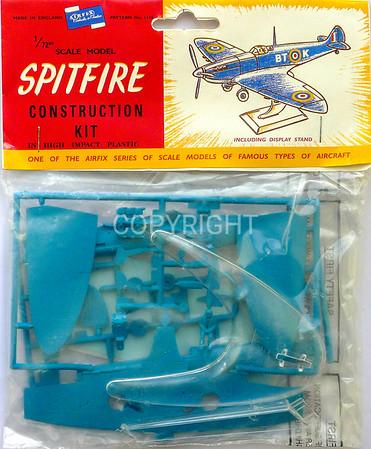 RAF Spitfire bagged kit.