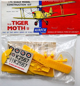 The Tiger Moth header card and bagged parts.