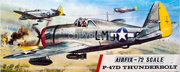 WW11 US Thunderbolt fighter.