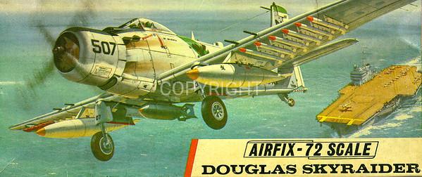 US Navy Skyraider carrier bomber.