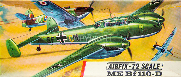 WW11 Luftwaffe Me 110 fighter.