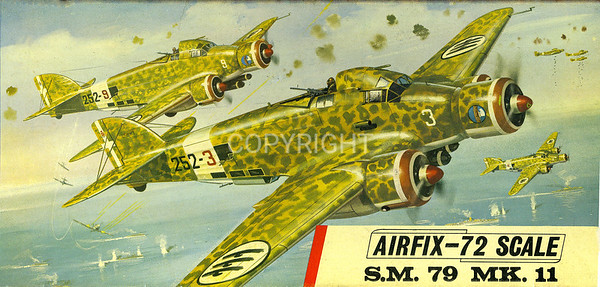 WW11 Italian Savoia Marchetti 79 bomber.