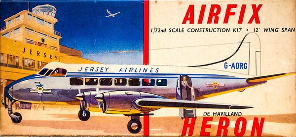 1950s British De Havilland Heron airliner.