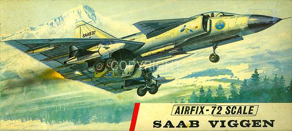 Swedish Viggen supersonic fighter.