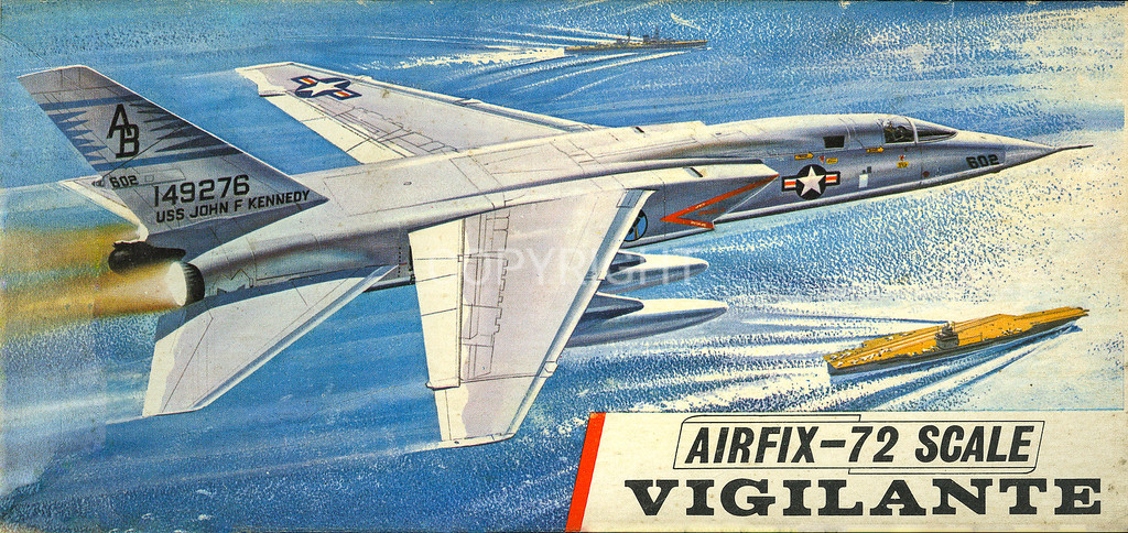 US Navy Vigilante supersonic carrier bomber.