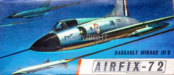 French Dassault Mirage fighter.