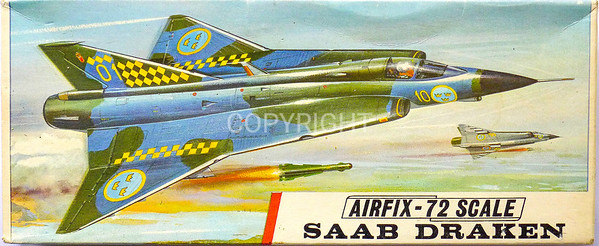 Swedish Saab Draken fighter.