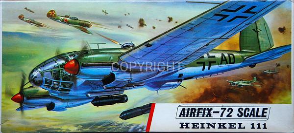 WW11 Luftwaffe Heinkel 111 bomber.