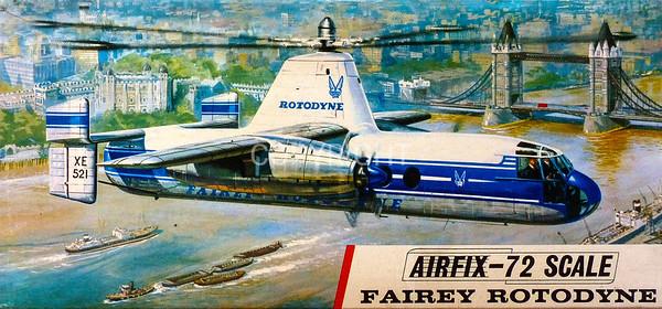 Fairey Rotodyne transport helicopter.