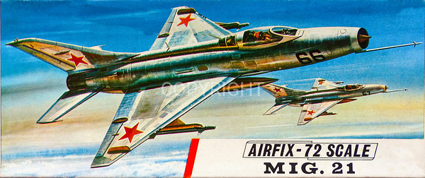Soviet Mig 21 supersonic fighter.