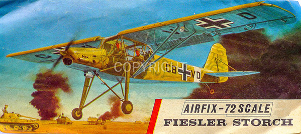 WW11 German Afrika Corps Storch army cooperation aircraft.