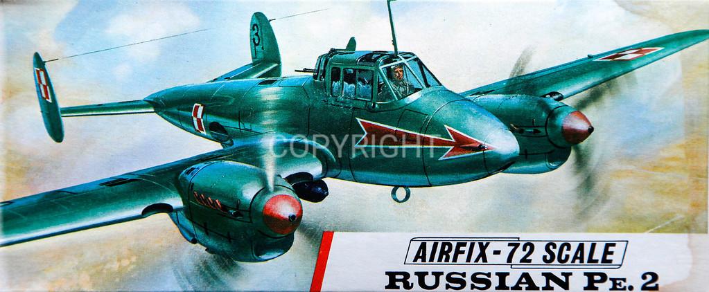WW11 soviet Pe2 fighter bomber.