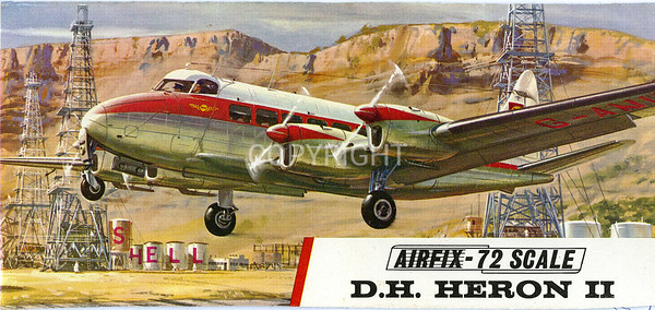 British De Havilland Heron airliner.