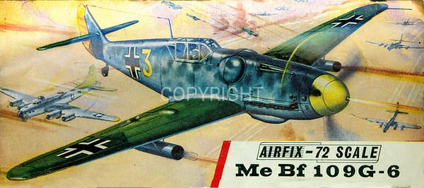 WW11 German Messerschmidt 109 fighter.