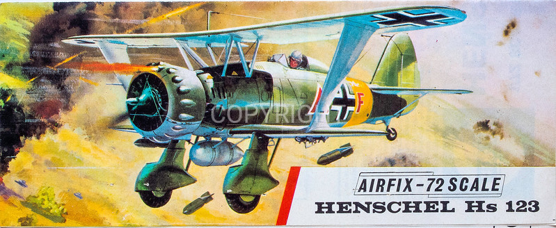 Early WW11 Luftwaffe Henschel 123 fighter.