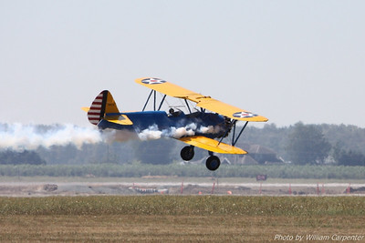 John Mohr flies his stock Stearman during the 2010 Abbotsford International Air Show.