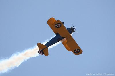 John Mohr flies his stock Stearman during the 2010 Abbotsford International Air Show.