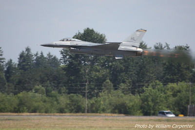 The F-16 Viper West demo takes to the skies.