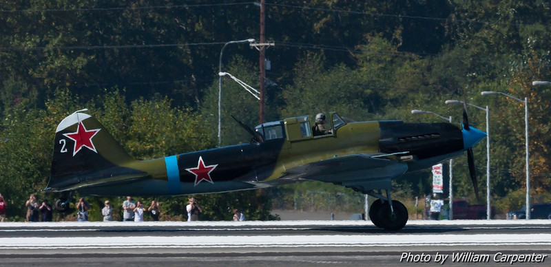 The Il-2 takes off on its first public flight in North America.