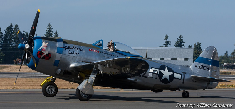 "The P-47 Thunderbolt, ""Tallahassee Lassie""."