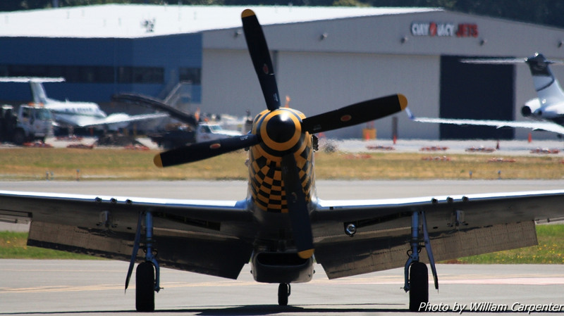 "The P-51 Mustang, ""Upupa Epops"", from the FHC."
