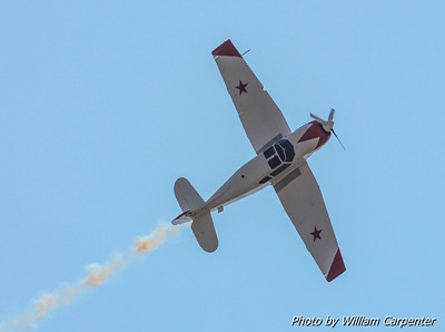 Ross Granley flies his Yak-18 in one of the best displays of airmanship on the air show circuit today.