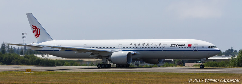 Takeoff roll of the 777.