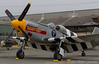 "The Historic Flight Foundation's P-51B Mustang, ""Impatient Virgin?"", sitting on the ramp."