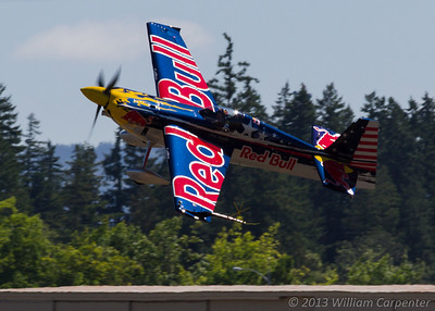 Kirby Chambliss in the Red Bull Edge 540.