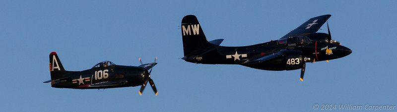 """A Bearcat and a Tigercat from the Historic Flight Foundation. I must say that the Tigercat (""""Bad Kitty"""") is the best sounding warbird I've heard in a while."""