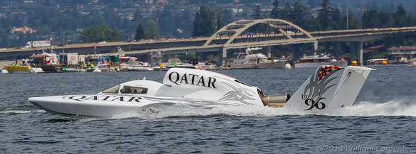 Spirit of Qatar leaves the pits for heat 1B.