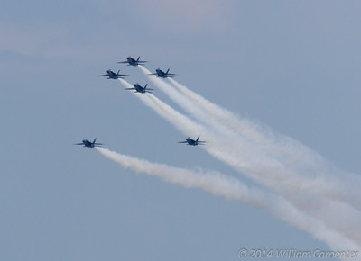 The Blue Angels return to the skies over the lake.