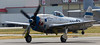 The Flying Heritage Collection's P-47 Thunderbolt, Tallahassee Lassie, on takeoff roll.