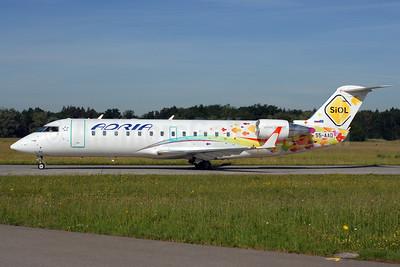 Adria Airways Bombardier CRJ200 (CL-600-2B19) S5-AAD (msn 7166) (SiOL) ZRH (Rolf Wallner). Image: 906608.