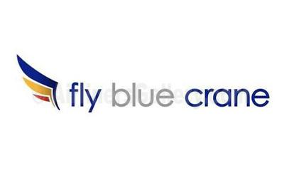 1. Fly Blue crane logo
