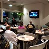 Air France Lounge- last few mins of World Series Game 7