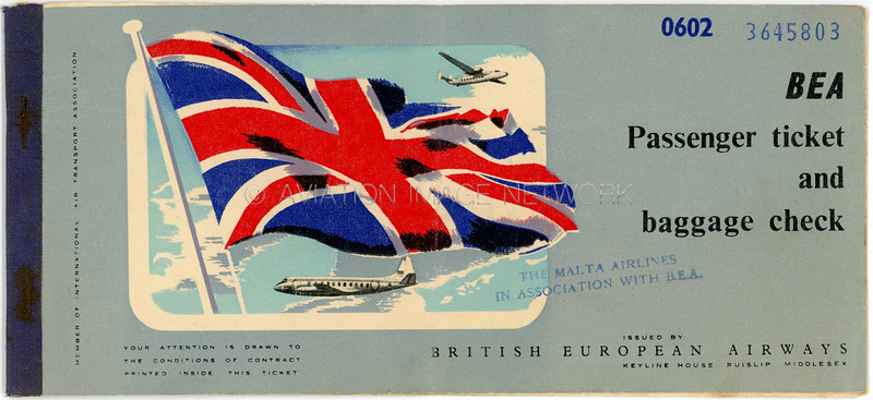 BEA - British European Airways | Malta - London Heathrow