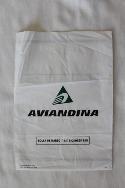 Aviandina (SJ) Sick Bag (Front)