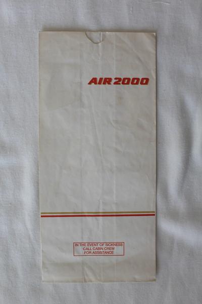 Air 2000 (DP) Sick Bag (Front)