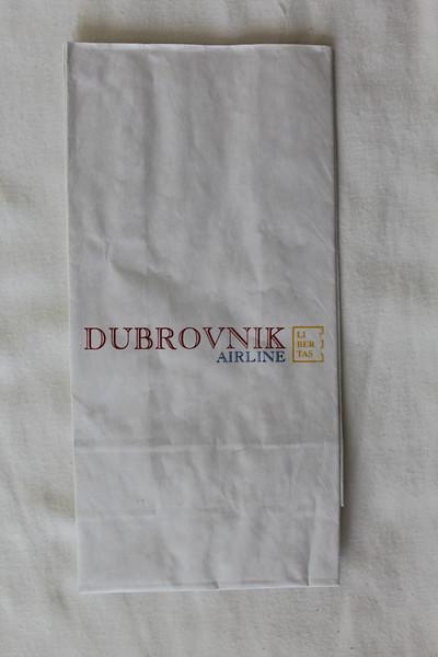 Dubrovnik Airline (2D) Sick Bag (Front)