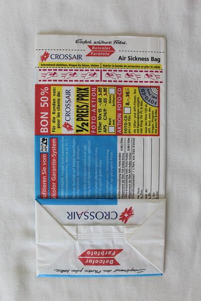 Crossair (LX) Sick Bag (Rear)