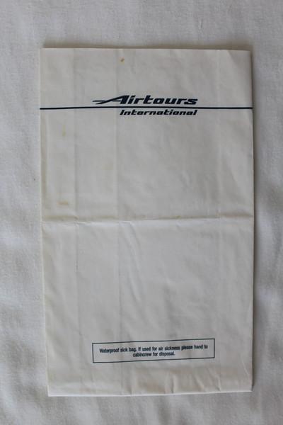 Airtours International Airways (VZ) Sick Bag (Front)