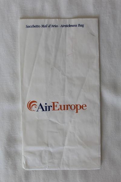 Air Europe (PE) Sick Bag (Front)