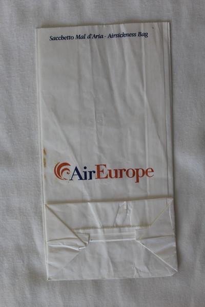Air Europe (PE) Sick Bag (Rear)
