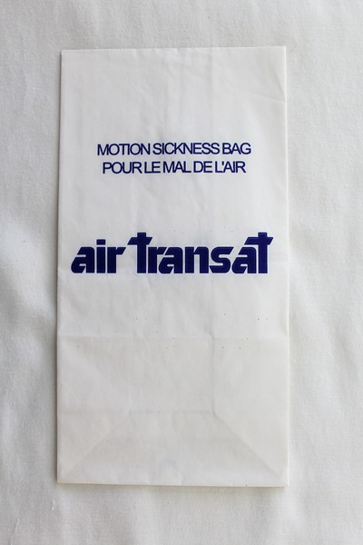 Air Transat (TS) Sick Bag (Front)