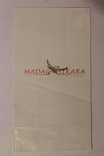 Madagasikara Airways (7D) Sick Bag (Front)
