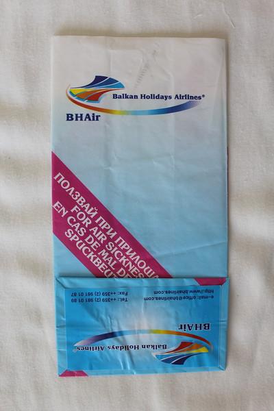 BH Air Balkan Holidays (8H) Sick Bag (Rear)